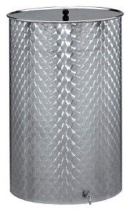 Panela Inox com tampa e torneira 110l