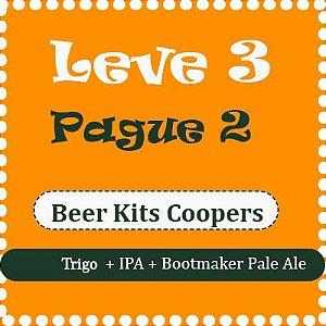 Promoção Coopers - Leve 3 e Pague 2 (Trigo + IPA + Bootmaker Pale Ale)