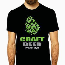 Camiseta Hop Craft Beer-M