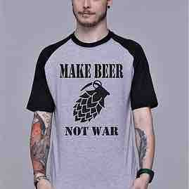 Camiseta Make Beer not War-XGG