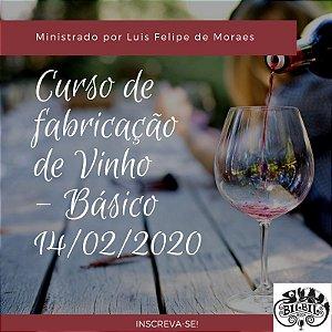 Curso de Fabricação de Vinho - Básico em Curitiba 14/02/2020