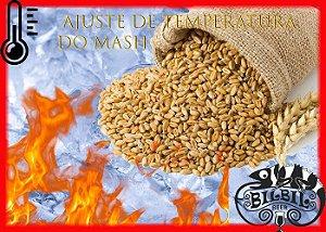 Ajuste de temperatura do Mash para fabricação caseira