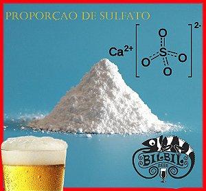 Proporção de sulfato para cloreto