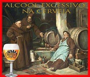 Álcool excessivo em cerveja artesanal
