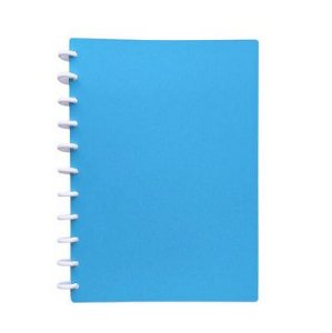 Caderno TopMagic Glitter Celeste Universitário