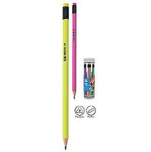 Lápis Preto HB Neon CIS com Borracha 10 un