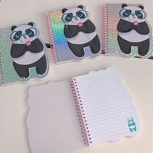 Caderno Pequeno Holográfico Panda