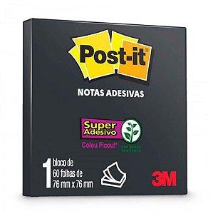 Post It 3m 654 76x76 Preto C/60 Fls