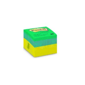 Bloco Adesivo Post It 3m 47,6x47,6mm 400 Folhas Cubo Verde