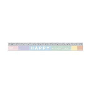 Régua em Poliestireno 30 cm Happy Tlibra