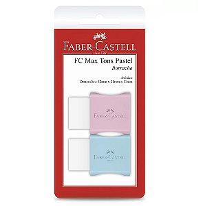 Borracha com cinta Max pastel pequena Faber Castell Bl 2 un