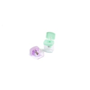 Apontador Plástico Quadrado com Depósito Pastel BRW