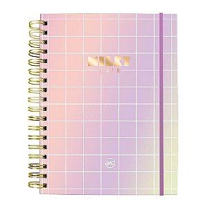 Caderno Smart Universitário 10 Matérias Folhas Reposicionáveis Milky DAC