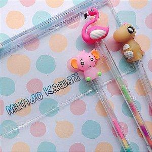 Kit Canetas Animais Color