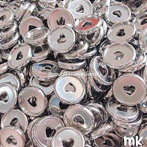 Disco Heart Metalizado Prata M