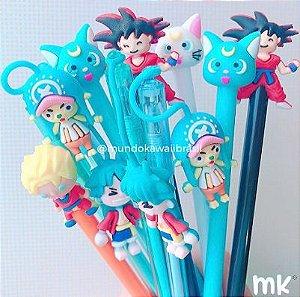 Kit Canetas Sortidas Personagens Anime 10 un