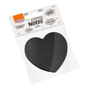 Bloco Smart Note Love 70x70 Coração Preto 50 fls