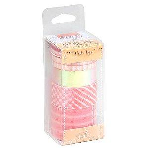 Fita Adesiva Washi Tape Candy Kit