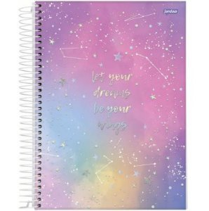 Caderno Universitário Mystic Galaxy 01 Matéria 80 folhas