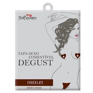 TAPA SEXO SOLÚVEL DEGUST CHOCOLATE FLORES - HOT FLOWERS