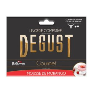 CALCINHA GOURMET MOUSSE DE MORANGO - HOT FLOWERS