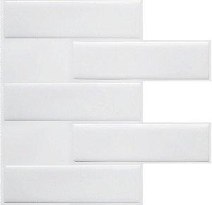 Revestimento Autoadesivo Resinado - Subway White Tiles