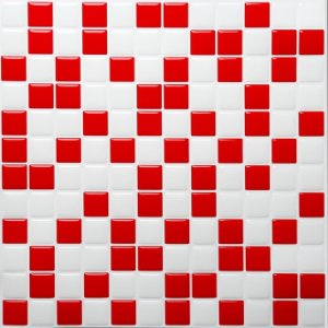 Revestimento Autoadesivo Resinado - Classic Red Pixels
