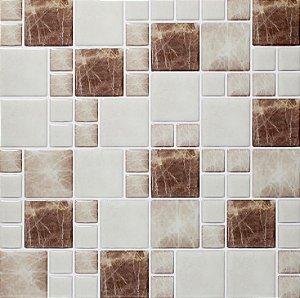 Revestimento Autoadesivo Resinado - Squares Marble