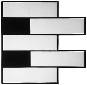 Revestimento Autoadesivo Resinado - Subway White Tiles Duo