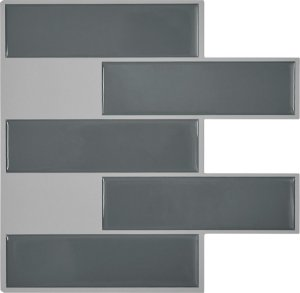 Revestimento Autoadesivo Resinado - Subway Dark Gray Tiles