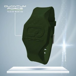 Pulseira Magnética Quantum Force - Verde Militar