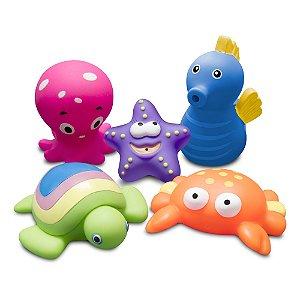 """Brinquedos para o banho - Animais Marinhos """"Set 1"""" - Comtac Kids - 4086"""