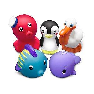 """Brinquedos para o banho - Animais Marinhos """"Set 2"""" - Comtac Kids 4087"""