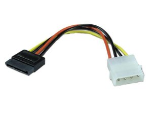 Kit 10 Cabos de alimentacao para dispositivo SATA 9091 comtac
