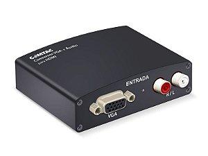 Conversor VGA + áudio para HDMI - COMTAC - 9218