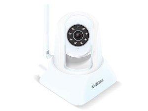Câmera para Monitoramento Remoto WiFi/LAN - IPCam -Branca - COMTAC - 9268