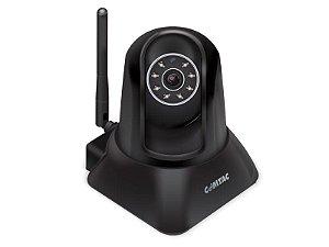 Câmera para Monitoramento Remoto WiFi/LAN - IPCam - Preta - COMTAC - 9267