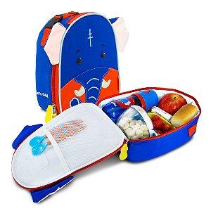 Lancheira Térmica Infantil Let's Go! Elefante - Charlie - Comtac Kids - 4048
