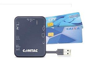 Leitor de cartões USB 2.0 para Smart Card  - COMTAC - 9166