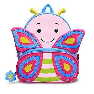 Mochila Infantil Let s Go - Borboleta - Cindy - Comtac Kids - 52104041