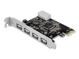 Placa PCI-e USB 2.0 - 4 portas - COMTAC - 9295