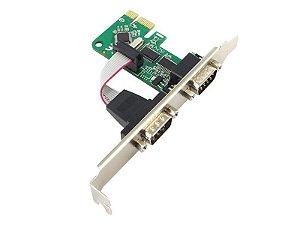 Placa PCI Express - 2 portas seriais - COMTAC - 9346