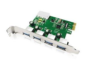 Placa PCI Express - 4 portas USB 3.0 - COMTAC - 9212
