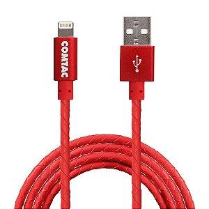 Cabo Lightning para USB 2.0 - 1 metro - Vermelho
