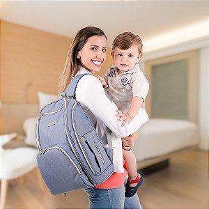Bolsa Maternidade Azul Zipper