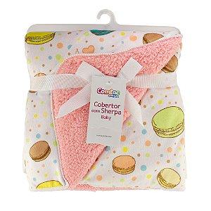 Cobertor Com Sherpa Baby Macaron Comtac Kids 4236
