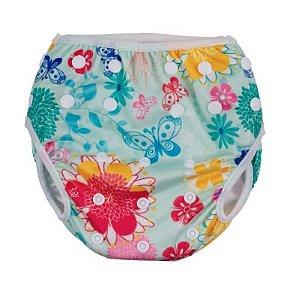 Calcinha de piscina ajustável - floral  ( G ) (59124285)