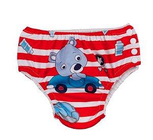 Sunguinha de piscina com absorvente - urso baby (  9 - 12 Meses  ) (59124385)