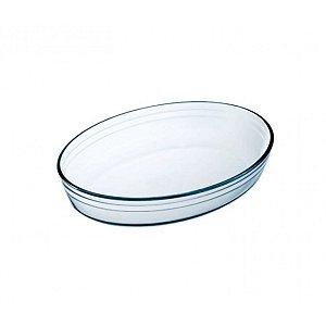 Travessa Assadeira Vidro Oval Forno Microondas Cisper Resistente