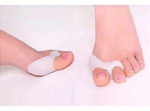 Par de Corretor Protetor Joanete Funcional Eficaz Alivia a Dor Ortopédico  Silicone Gel Separador Polegar Ajustador 2 Dedo